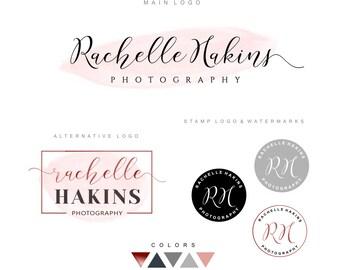 Logo kit, Calligraphy handwritten logo, Photography logo design Premade logo Branding kit Watermark, business logo, signature, Stamp Logo 03