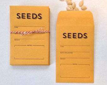 Seed envelopes - seed packets