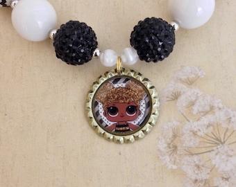 LOL Surprise Doll Chunky Bubblegum Necklace - Queen Bee Necklace - LOL Surprise Doll Necklace - Queen Bee Chunky Bubblegum Necklace