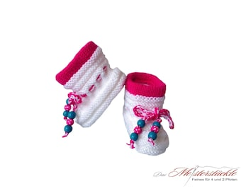 Knitted baby booties baby socks