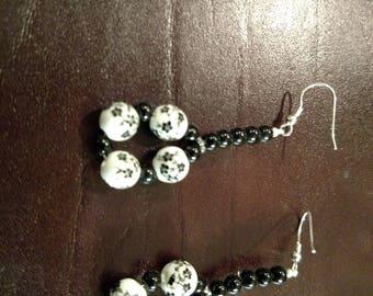 Asian style beaded earrings.