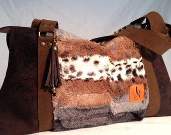 Tote bag, hand bag, stamped bag, fabric bag, two handles bag, hair bag,