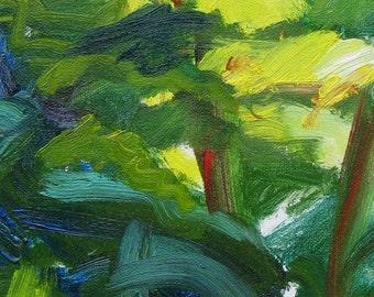 Clearing GICLEE ART PRINT 8 x 11 abstract landscape green aqua