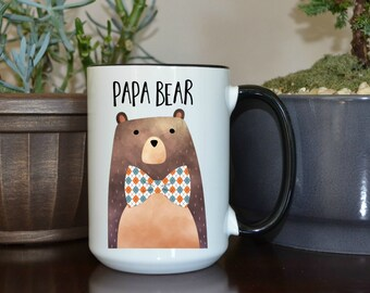 Home and Living, Kitchen and Dining, Drink and Barware, Drinkware, Mugs, Papa Bear, Papa Bear Mug