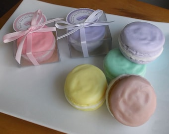 Macaroon Wedding Favor - Unique Wedding Favors, Paris Wedding, Bridal Shower Favors, Macaroon Favors, Paris Party Favors, Soap - Set of 10
