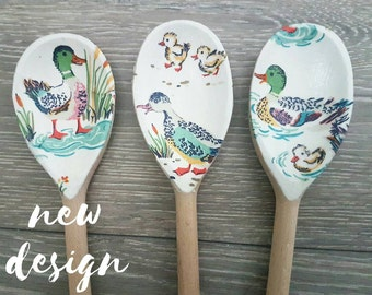 Decorative Spoon Set in New Cath Kidston Duck Design || Kitchen || Utensils || Summer || Shabby Chic || Home Decor