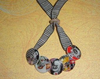 "Bracelet ""Fashion TATOO"" resin buttons"