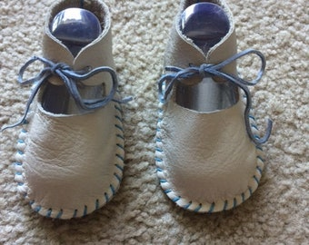 1940's Style Leather Baby Shoes