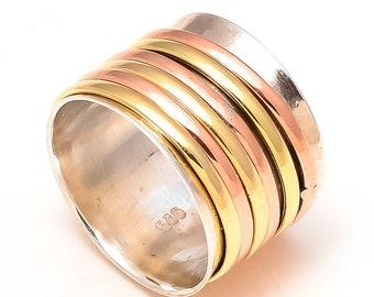 Handmade 925 sterling Silver spinner ring / statement ring/ Sterling Silver ring for in any size (5-12) Available