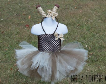 Giraffe Halloween Costume Tutu Girl Skirt Boutique Bows Clothing Baby Toddler Zoo Outfit