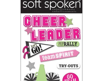 Cheerleader Dimensional Stickers by Soft Spoken, Me & My Big Ideas Stickers