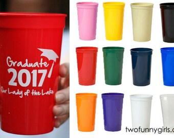 Personalized Stadium Cups for Graduation {22 oz}