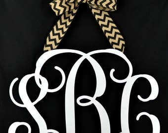 Letter door hanger - monogram door hanger - nursery monogram - Wedding monogram - bridal shower gift - letter wreath - everyday wreath