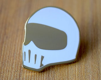 Canyon Carver Retro Motorcycle Helmet Pin