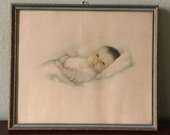 "1932 ""Heaven's Gift"" Annie Benson Muller Print in Beautiful Frame"