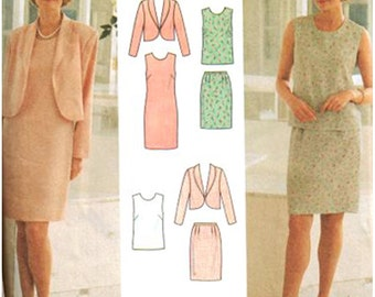 Simplicity Sewing Pattern 7115 Misses' Petite Jacket, Dress, Top, Skirt  Size:  Y  18-20-22  Uncut