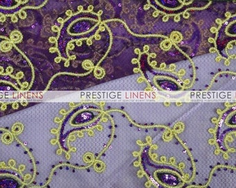 CLOSEOUT FABRIC - Coco Pasley Embroidery Dress Apparel - Plum - 0.75 Yard
