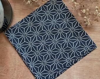 Caveman Pocketsquare / Handkerchief - Japan Blue Motif Cotton