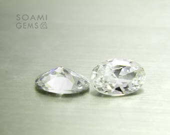 Loose Cubic zirconia white, 4x6, 5x7, 5x8, 6x9, 7x10, 9x11 mm oval cut transparent cubic zirconia faceted gem