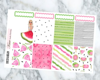 One in a Melon // Weekly Kit - Erin Condren Life Planner Vertical 165+ stickers