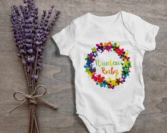 Rainbow baby baby flower hipster,funny baby bodysuit,one piece,humor,new born,cute,burp,outfit,game ,baby shower gift,cute baby,gift