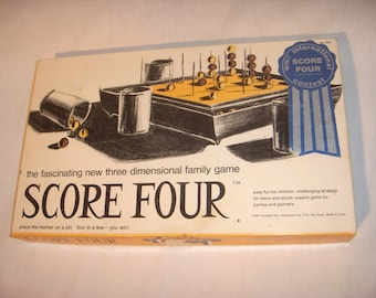 SCORE FOUR by Lakeside 1967 Three Dimensional Game