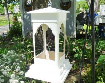 PVC birdfeeder, hanging feeder, ez clean, suet holder, succulent planter, small birdfeeder, lantern for LED candles, Made in USA