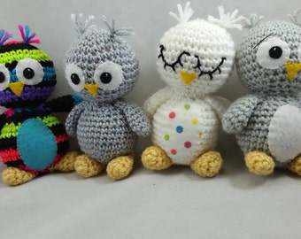 Crocheted Owls toys