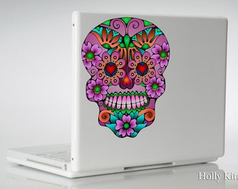 Sugar Skull - Vinyl Decal Sticker - Dia de los Muertos