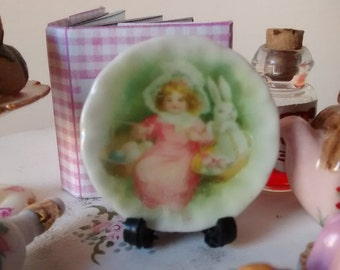 Dolls House miniature Victorian Easter Ceramic Plate