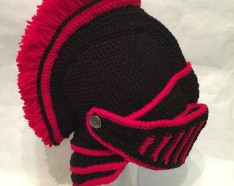 Trojan Black Knight Helmet crochet pattern