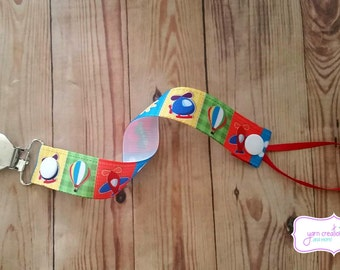 Pacifier Holder- Airplanes & Helicopters