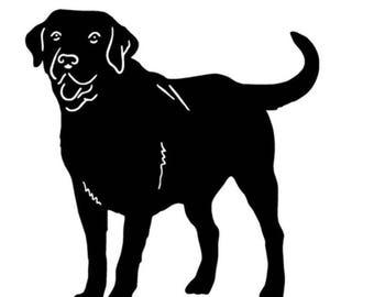 "Black Labrador decal 5"" x 5"""