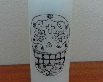 Sugar Skull Candle