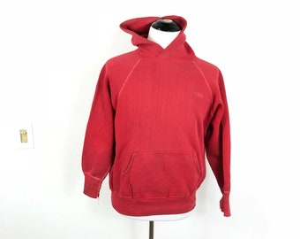 60's vintage distiested all cotton pullover hoodie