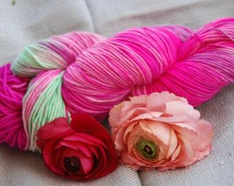 handdyed Yarn, 100g/ 3,5oz , colour spring