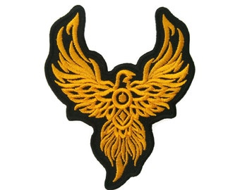 Phoenix Embroidered Applique Iron on Patch