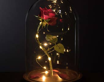 Enchanted Rose Life-Sized from Beauty and the Beast Valentine's Day