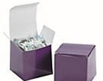 Plum Purple  Favor Boxes, 12 EA.