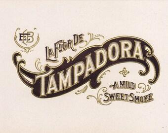 La Flor De Tampadora Original Unused Vintage Small Inner Cigar Box Label