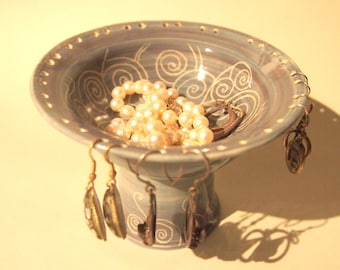 Jewellery earring holder jewelry pedestal earring pedestal earring storage lavender grey
