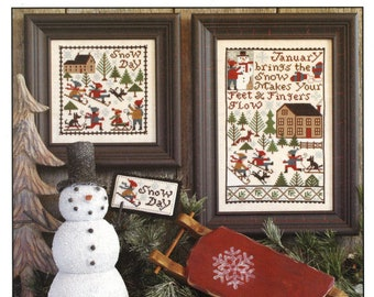 Prairie Schooler Retired! January Cross Stitch Chart Book No. 177 12-1213 ORIGINAL CARD STOCK