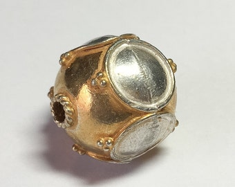 Gold Vermeil Bead 18mm Round