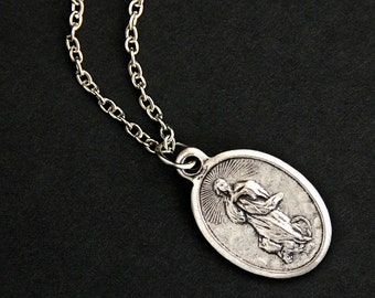 Our Lady of Assumption Necklace. Christian Necklace. OL of Assumption Medal Necklace. Catholic Saint Jewelry. Religious Necklace.