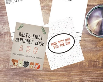 Woodland Creatures Baby Shower Baby's First Alphabet Book | Printable ABC Baby Shower Activity | Printable | Instant Download