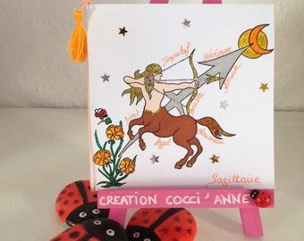 Astrology Sagittarius - anniversary - personalized card