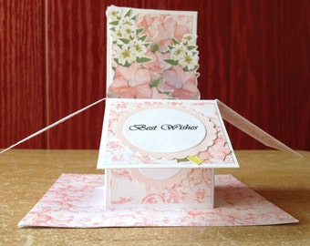 A Pop-up card/Unique Greeting card 3D pop-up card birthday card personalized card