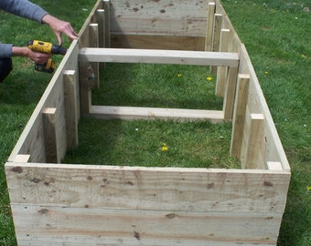 Large Tanalised Wooden Vegetable Raised beds, 45cm high, 180cm or 240cm Long