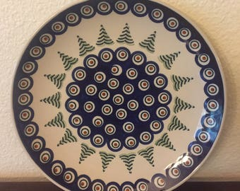 Polish Pottery Dinner Serving Plate