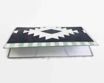 Checkbook Cover, Vinyl Checkbook Cover, Boho Checkbook cover, Checkbook Holder, Tribal, Duplicate Checkbook Cover